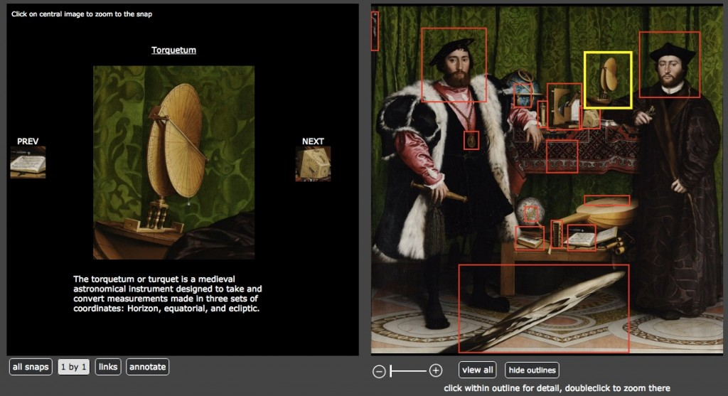 ImageDiver provides a closeup of the annotated section.