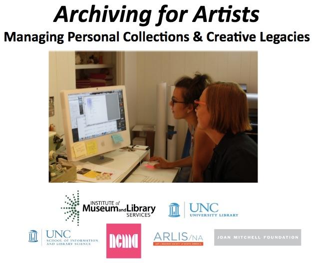 Archiving for Artists Workshop 1 intro ppt slide