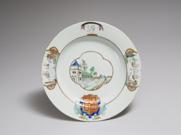Social Art History Analysis of Ackland Museum Export Porcelain Plate