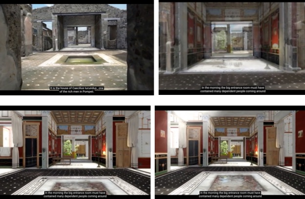 Screen captures of the video of Swedish Pompeii Project's 3-D model