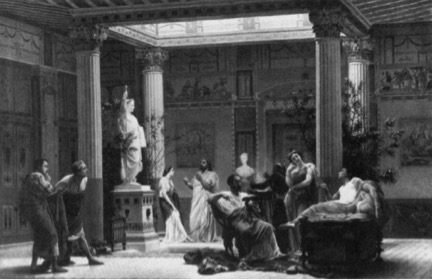 "Gustave Boulanger, Rehearsal of ""The Flute Player"" in the Atrium"