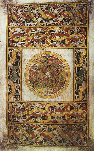 Carpet page with animal interlace from Book of Durrow