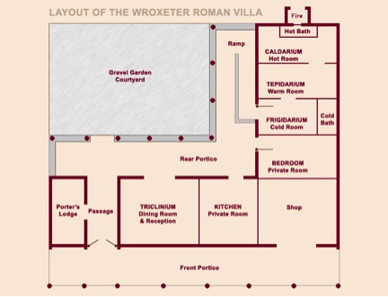 Groundplan of Wroxeter villa reconstruction