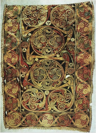 Carpet page with scrollwork from Book of Durrow